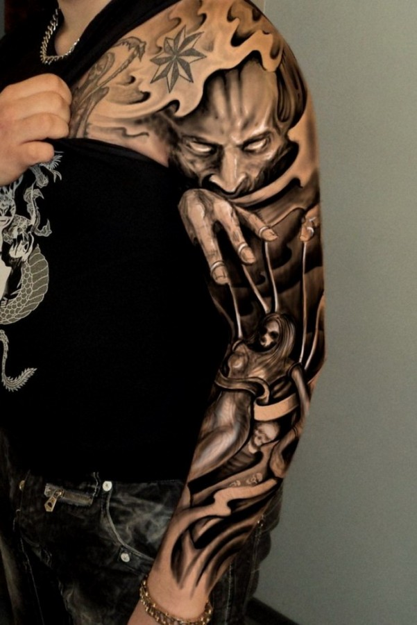 Incredible full arm tattoo