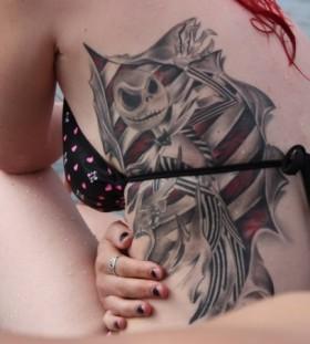 Incredible jack skellington tattoo