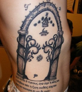 Incredible lord of the rings tattoo