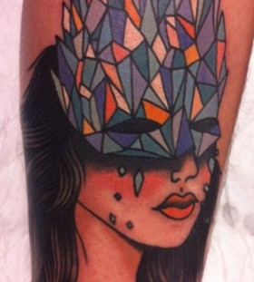 Indian girl's tattoo by lauren winzer