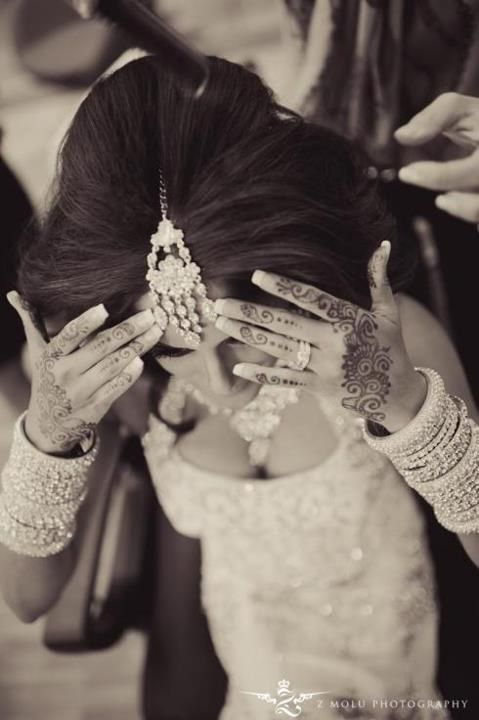 Indian style bride tattoo