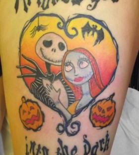 Jack skellington and quote tattoo
