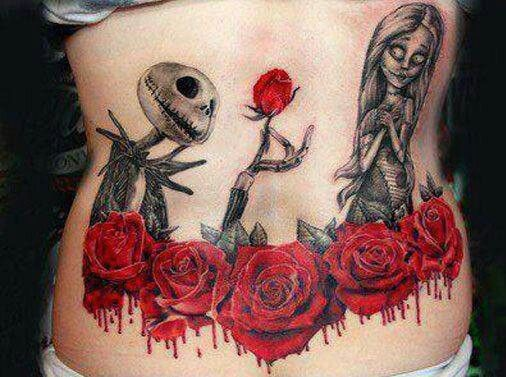 32c597c9b Jack skellington and roses tattoo - | TattooMagz › Tattoo Designs ...