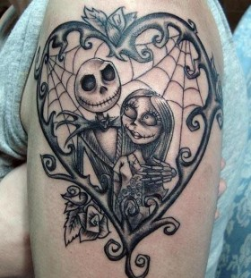 Jack skellington and sally tattoo