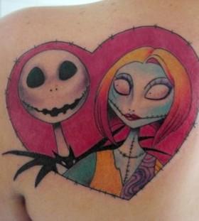 Jack skellington heart tattoo