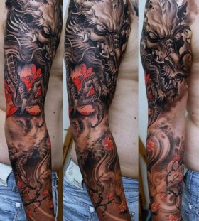 Japanese dragon tattoo by Dmitriy Samohin