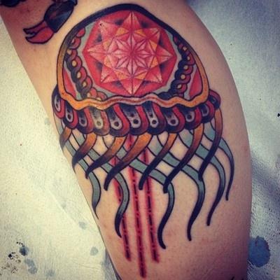 Jellyfish tattoo by Eva Huber