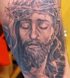 Jesus tattoo by Xavier Garcia Boix