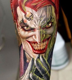 Joker tattoo by Dmitriy Samohin
