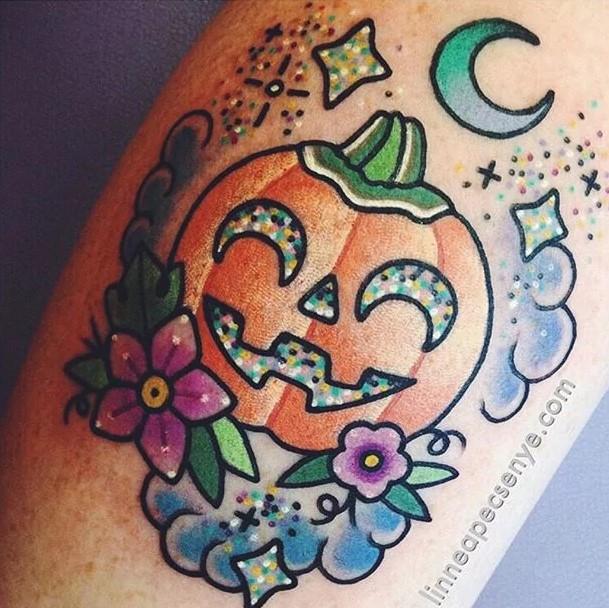kawaii-style-pumpkin-halloween-tattoo