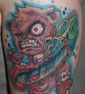 Killer teddy bear tattoo