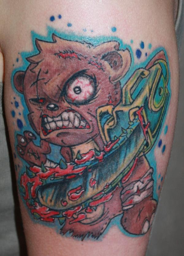 Killer teddy bear tattoo