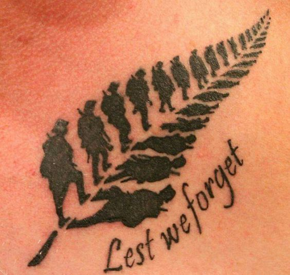Kiwi war veteran tattoos for men