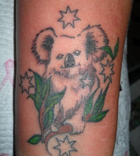 Koala on a branch tattoo
