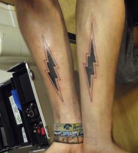 LIghtning bolt arm tattoo