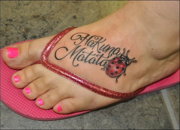 Ladybug hakuna matata tattoo