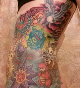 Large pokemon side tattoo