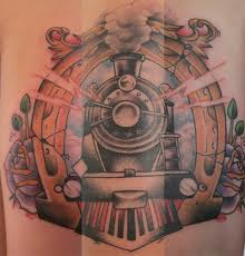 Large train side tattoo