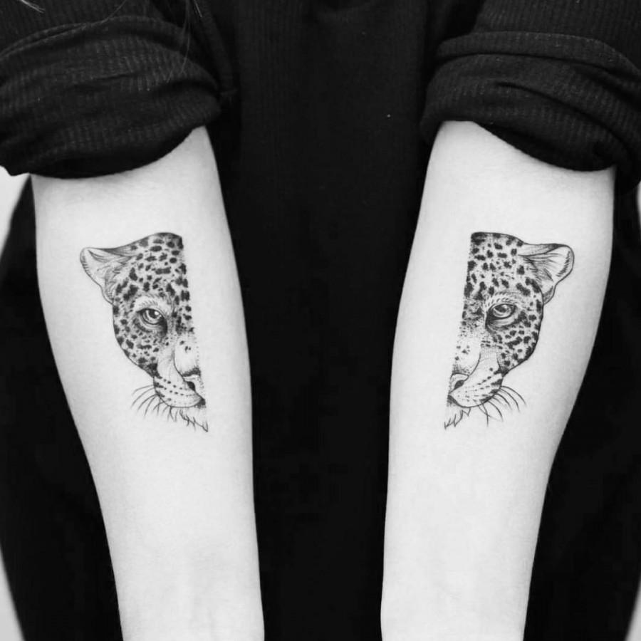 leopard tattoo by phoebe hunter