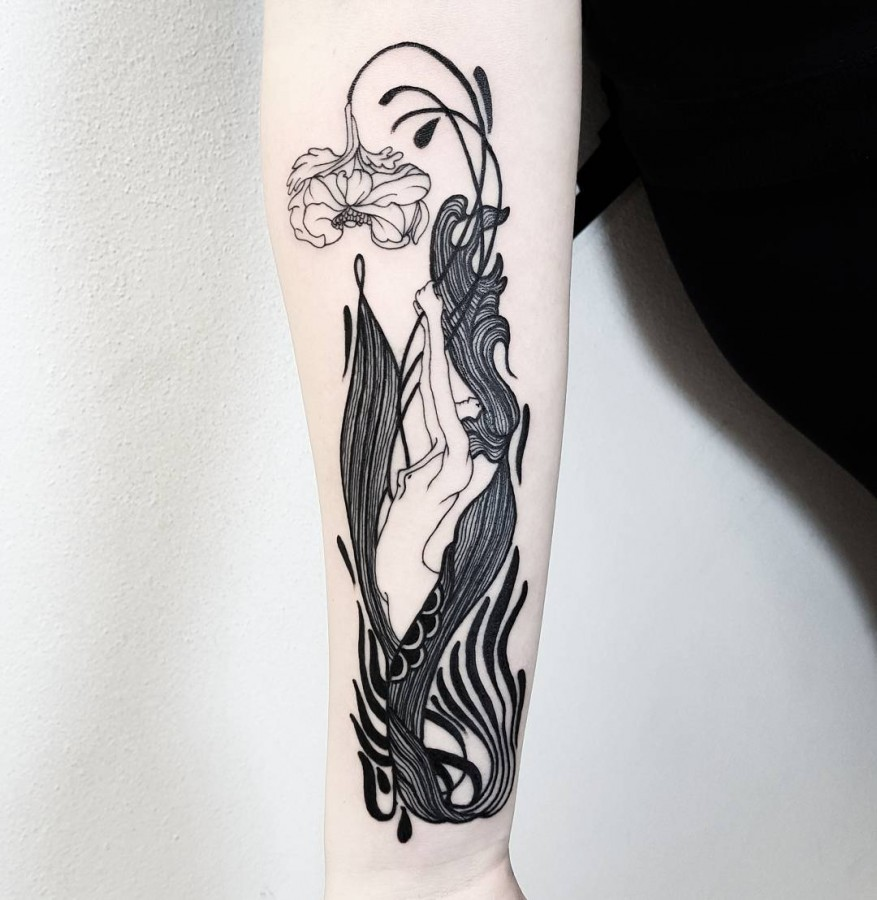linework tattoo by matteonangeroni