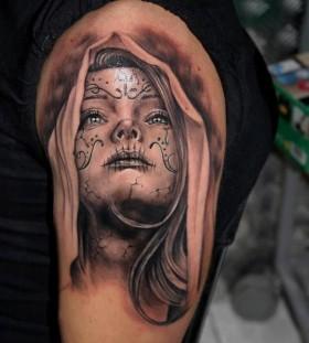 Lla santa muerte tattoo