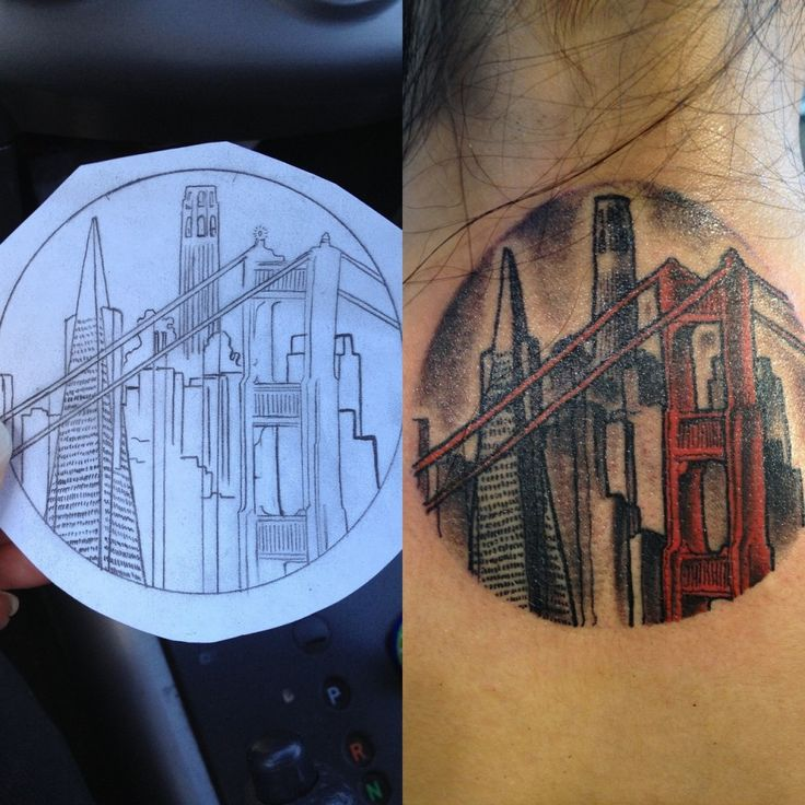 London style town tattoo