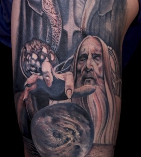 Lord of the rings Saruman tattoo