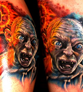 Lord of the rings smeagol tattoo
