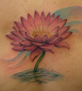 Lotus flower tattoo by Jessica Brennan