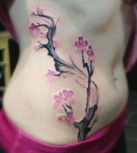 Lovely apple blossom tattoo