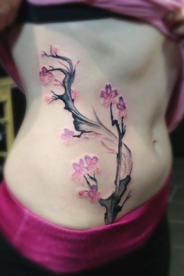Lovely apple blossom tattoo