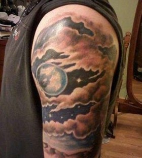 Lovely clouds arm tattoo