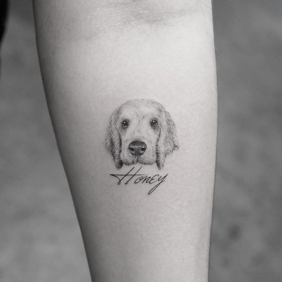 lovely dog tattoo