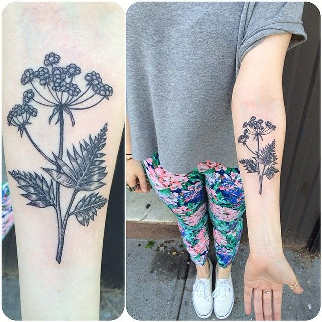 Lovely floral tattoo by Rachel Hauer