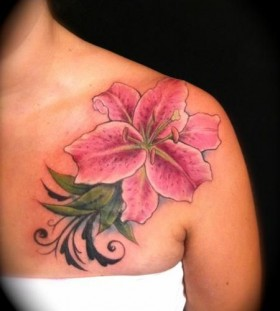Lovely flower tattoo by Jessica Brennan