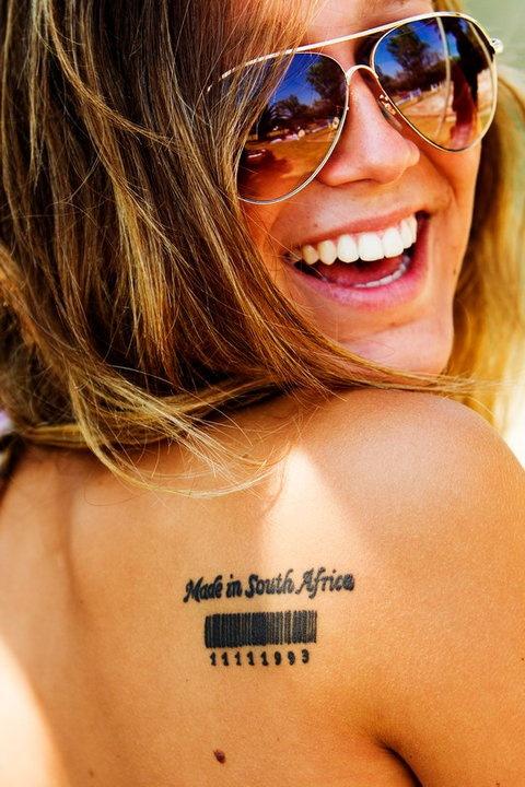 Lovely girl smile tattoo