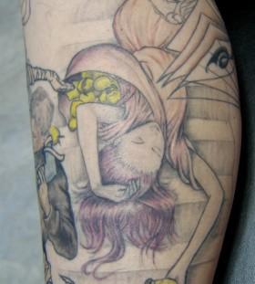 Lovely girl tattoo