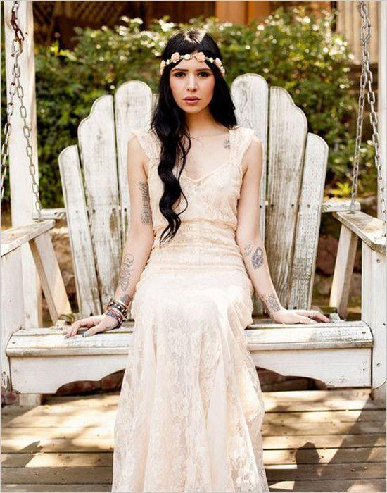 Lovely girl's bride tattoo