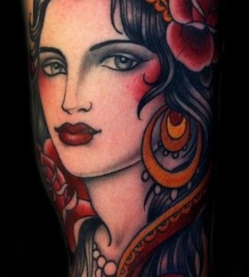 Lovely gypsy tattoo by W. T. Norbert
