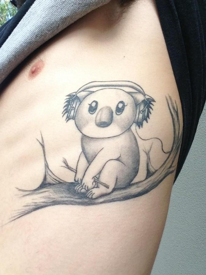 Lovely koala bear tattoo