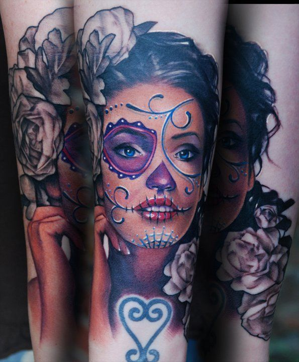 Lovely lady tattoo by Kyle Cotterman