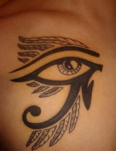 Lovely looking egyptian eye tattoo