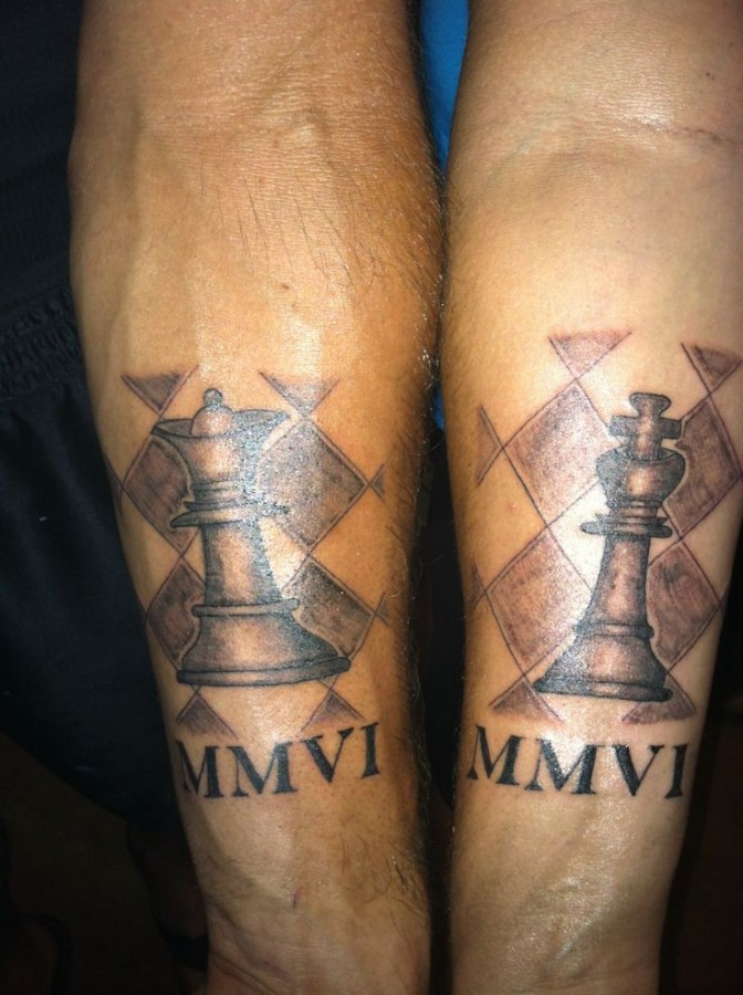 Lovely pretty chess tattoo