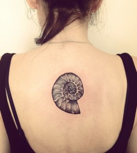 Lovely shell back tattoo