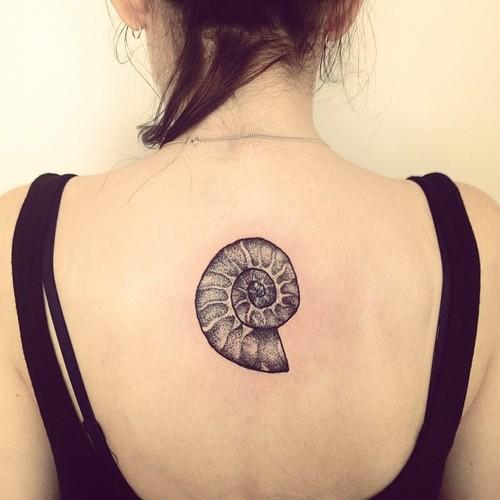 Lovely shell back tattoo