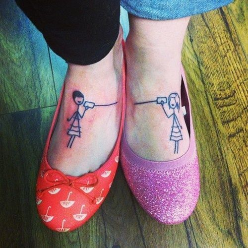 Lovely shoes and telephone tattoo