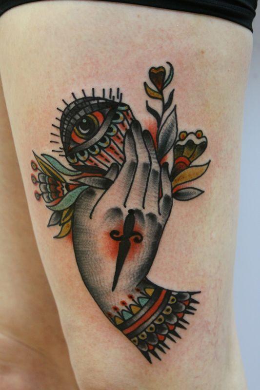 Lovely tattoo by Eva Huber