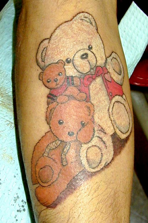 Lovely  teddy bear tattoo