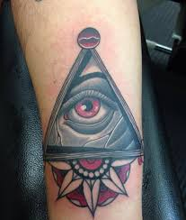 Lovely triangle eye tattoo