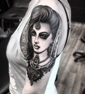 Lovely woman tattoo by Flo Nuttall